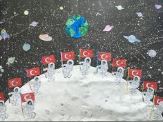 #moon #space #puffy #paint Planet Sun, Space Planets, Puffy Paint, Space Theme, Preschool Activities, Spaceship, Children, Kids, Projects To Try