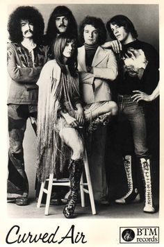 """'Curved Air' are a pioneering British progressive rock group formed in 1970 by musicians from mixed artistic backgrounds, including classical, folk, and electronic sound. The resulting sound of the band was a mixture of progressive rock, folk rock, and fusion with classical elements. Curved Air were one of the first rock bands to feature a violin. Curved Air released eight studio albums and had a hit single with """"Back Street Luv"""" (1971) which reached number 4 in the UK Singles Chart."""