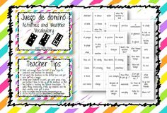 Domino Game for Activities and Weather vocab for ¡Exprésate! 1 ch 3.2 $