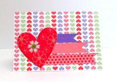Cartão Coração / Barquinho de Papel Scrap