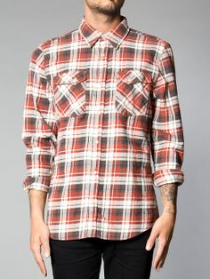 Gunnar Org.Twill Check Red - Nudie Jeans Co Online Shop