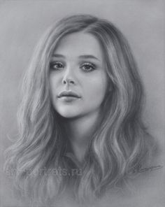 Chloe Grace Moretz Drawing Portrait by Dry Brush by Drawing-Portraits on DeviantArt