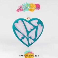 """♥Cartera """"Corazón"""" jade bordada♥ ♥BUTRICHMANÍA♥"""