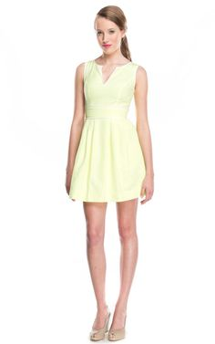 81 Poppies Kara Dress in Bright Neon with Exposed Rosegold Zipper at Social Dress Shop