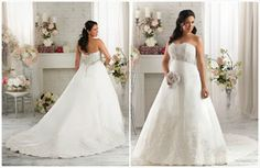 Aline Lace beaded sash wedding dress Plus size bridal gown#1414