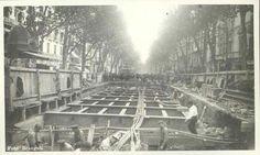 BARCELONA...1924 ,OBRAS DEL GRAN METRO DE LAS RAMBLAS...28-10-2014...!!! Bilbao, Old Photos, Paris Skyline, Black And White, City, Travel, Vintage, Archaeology, Barcelona City