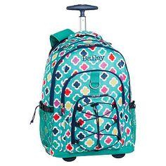 Gear-Up Preppy Geo Rolling Backpack #pbteen, $71.60
