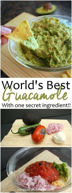 Hands down the best guacamole I've ever had. Everyone asks for the recipe whenever I bring it to parties or game nights. Best appetizer ever.