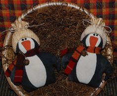 Primitive Penguin Penn /& Guinn Doll Set Paper Pattern #186