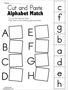 Preschool alphabet worksheets and coloring pages help your little one master all the letters of the alphabet. Check out our preschool alphabet printables. Letter Worksheets For Preschool, Free Kindergarten Worksheets, Preschool Letters, Letter Activities, Preschool Learning Activities, Free Preschool, Matching Worksheets, Literacy Worksheets, Free Printable Alphabet Worksheets