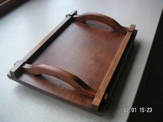 Items similar to tray wood dovetailed on Etsy Woodworking Jigs, Custom Woodworking, Woodworking Projects Plans, Diy Wood Countertops, Wooden Serving Trays, Cnc Wood, Small Wood Projects, Tea Tray, Wood Tray