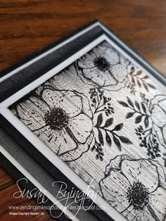 Black Ice Technique in Silver using Amazing You stamp set by Stampin' Up!