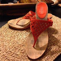 AUTHENTIC~ WOMEN'S COACH WEDGE SANDALS- 9 1/2 B EXCELLENT EXCELLENT CONDITION~ SIZE 9.5 B ( A0559 BROOKK) PATENT LEATHER THONG SANDALS Coach Shoes Wedges