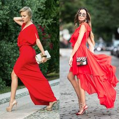 What color shoes should you wear with a red dress red or nude? TELL US join the  discussion-->TAP the link in our bio. . Credits to: pic: @thecablook @jasmine_tosh