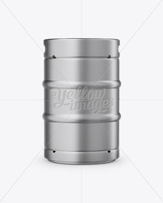 50L Metallic Beer Keg Mockup