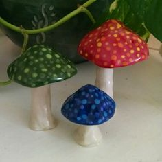 Hey, I found this really awesome Etsy listing at https://www.etsy.com/listing/259553398/ceramic-mushrooms-set-of-3-handmade