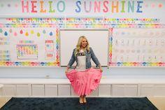 Hello Sunshine Rainbow Letters (from Melanie's classroom MAKEOVER) {U PRINT}