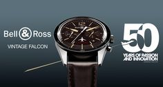 Bell & Ross launches the Vintage Sport Heritage line to pay tribute to the 60's and associates with Dassault-Falcon to celebrate the 50th anniversary of the Falcon jet.