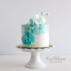 New Birthday Cake For Women Elegant Beautiful Ideas New Birthday Cake, Adult Birthday Cakes, Birthday Cakes For Women, Birthday Woman, Birthday Ideas, 50th Birthday, Fondant Cakes, Cupcake Cakes, Cupcake Recipes