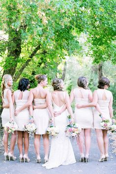 short bridesmaid dresses - brides of adelaide magazine
