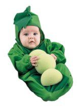 newborn baby pea in the pod halloween costume 0 6 months