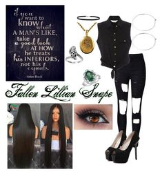 """""""Fallen Lillian Snape"""" by micca-valdez on Polyvore featuring WithChic, Sirius, BillyTheTree, Blue Nile, Tressa and Catbird"""