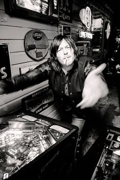 soitgoesmag Issue.5 outtake from our@bigbaldhead cover story. Norman takes pinball very seriously