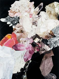 Ooh, more crystals! Collage by Nicole Wermers. - The Jealous Curator