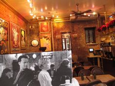 "If you've ever stopped by Cafe Lalo in Manhattan's Upper West Side, you may recognize it from the 1998 film, ""You�ve Got Mail."" Maloney stopped by the cafe to match a film still of Tom Hanks and Meg Ryan with the actual setting."