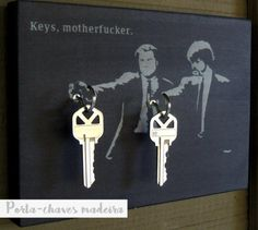 porta chaves pulp fiction