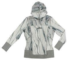 Adidas Womens Stella McCartney Run Long Sleeve Jacket White L, Size: Large, White/Grey Stella Mccartney Adidas, Raincoat, Running, Hoodies, Grey, Long Sleeve, Sleeves, Jackets, Clothes