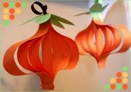DIY Craft: Paper Pumpkin Ornaments: A simple and easy craft project to do with your kindergarten students to prep for Halloween and Thanksgiving. Theme Halloween, Halloween Crafts For Kids, Fall Crafts, Halloween Pumpkins, Holiday Crafts, Kids Crafts, Holiday Fun, Craft Projects, Preschool Halloween