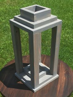 Wood Lantern by BallDesignandBuild on Etsy https://www.etsy.com/listing/457350086/wood-lantern