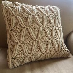 Macrame Cushion Cover - Cowboy - www.summerhousenz.co.nz