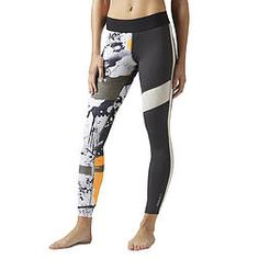 Reebok Elite Paint Splatter Legging (BK1906) Paint Splatter, Classic Leather, Reebok, Pants, Fashion, Moda, Trousers, Fashion Styles, Women Pants