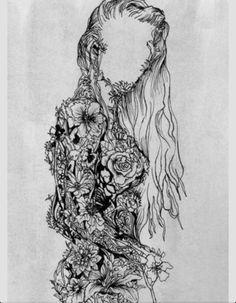 Flower girl Flower art Nature