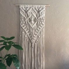 Large Macrame Wall Hanging, Macrame, Boho, Wall Decor, Garden Art, Wall Art, Gypsy, 70's, Hippie, Fiber Art, Wall Tapestry, Garden Ornaments by MacrameElegance on Etsy