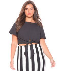 View our Tie Waist Blouse and shop our selection of designer women's plus size Tops, clothing and fashionable accessories. Trendy Plus Size Fashion, Plus Size Tops, Black Blouse, My Wardrobe, Everyday Fashion, Dress Up, Style Inspiration, Tie, How To Wear