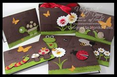 Stampin' Up!  Punch Art  Monika Davis  Garden Animals