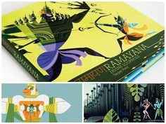very very nice illustrations in the book 'Ramayana- Divine Loophole'  designed by Sanjay Patel
