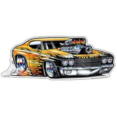 ( 2016 ) ☞ CARTOON HOT ROD 2016. ☞ 1970 Chevelle.