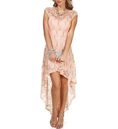 Virginia-Blush Sequin Hi Low Dress from Windsor. Love all three colors they have. Only $99