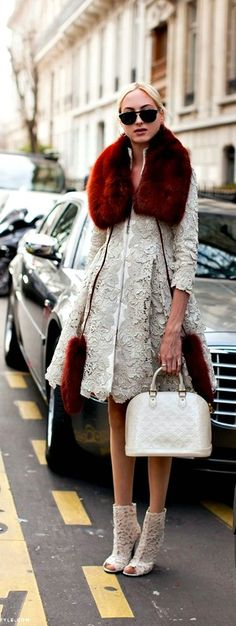 s†®єє† ᵴ†yℓε    LV  lace fur coat