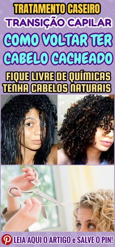 Transição capilar: veja como voltar a ter cabelo cacheado. O primeiro passo para realizar sua transição capilar e voltar a ter cabelo cacheado, é abandonar, de vez, todo e qualquer procedimento químico, com destaque para as progressivas e os relaxamentos. #dicas #truques #receitas #caseiro #beleza #cabelo #transicaocapilar #comotercabelocacheadodevolta #comotercabelocacheadodevolta #cabelocacheado #cabelosemquimica Rapunzel, New Hair, Curly Hair Styles, Curls, 1, Make Hair, Natural Hair, Curly Sew In Weave, Cornrows
