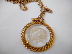 Vintage signed Trifari Zodiac pendent Necklace by houuseofwren