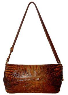 Brahmin Handbag Brown Croc Embossed Leather Purse