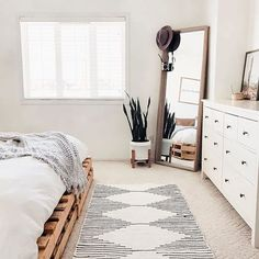 14 Fabulous Rustic Chic Bedroom Design and Decor Ideas to Make Your Space Special - The Trending House Boho Chic Bedroom, Rustic Master Bedroom, White Bedroom, Home Decor Bedroom, Modern Bedroom, Minimalist Bedroom Boho, Bedroom Furniture, Contemporary Bedroom, Calm Bedroom