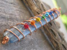Blue Kyanite Chakra Pendant Wire wrapped