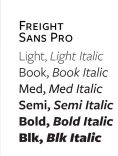 Freight Sans from GarageFonts
