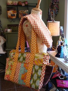 Hand Made Custom Patchwork Diaper Bags by Watermelon Wishes | CustomMade.com